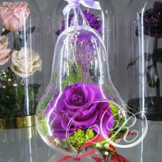 Бутон фиолетовый в колбе Груша