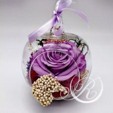 Бутон фиолетовый в колбе Яблоко