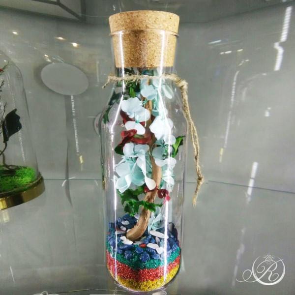 Цветы в стеклянной баночке