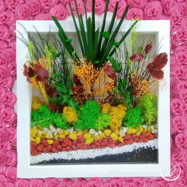 Картина из цветов #1