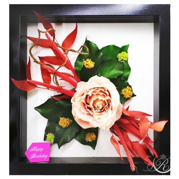 Картина из цветов #7