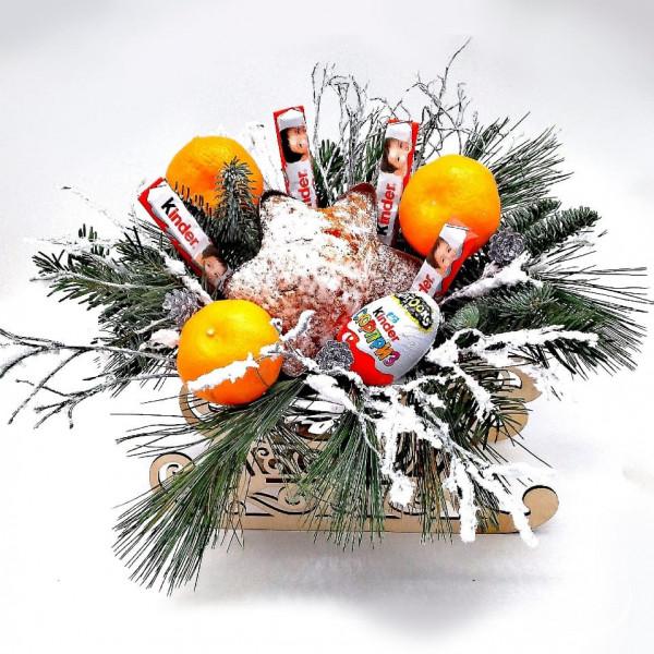 Новогодний букет #3 с мандаринами
